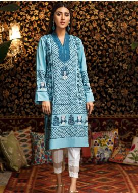 Kross Kulture Embroidered Khaddar Stitched Kurtis FB-19330 Sky Blue