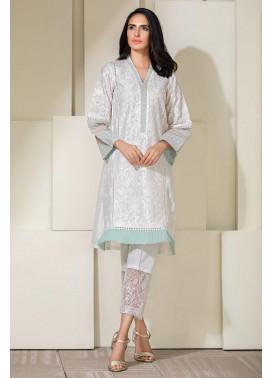 Kross Kulture Embroidered Cotton Stitched Kurti KE-20326 White