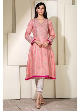 Kross Kulture Embroidered Cotton Net Stitched Kurti KE-20354 Pink
