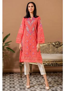 Kross Kulture Embroidered Cotton Stitched Kurti KE-20367 Tea Pink