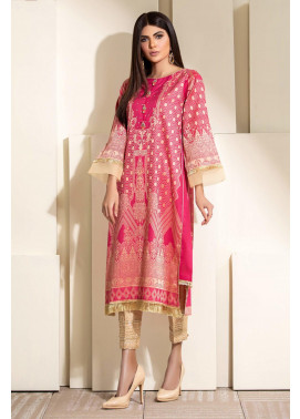 Kross Kulture Embroidered Jacquard Stitched Kurti KX-20349 Dark Pink