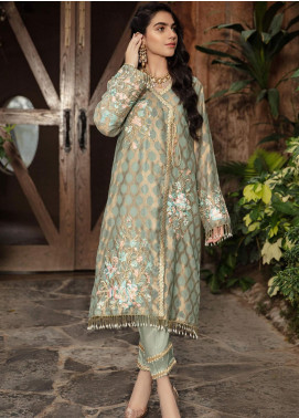Kross Kulture Embroidered Missouri Stitched 2 Piece Suit BJ-19270 Green