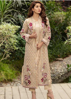 Kross Kulture Embroidered Cotton Stitched 2 Piece Suit FS-19333 Skin