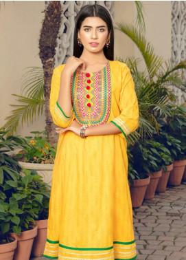 Kross Kulture Casual Lawn Stitched Kurti KB 20125 Yellow