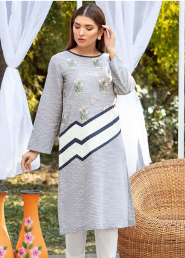 Kross Kulture Casual Cotton Stitched Kurti KB 20130 Grey