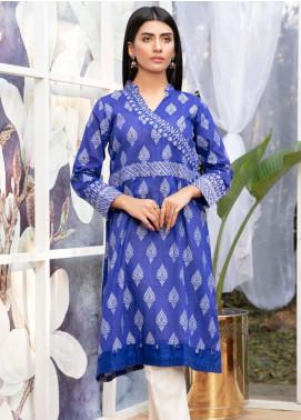Kross Kulture Casual Jacquard Stitched Kurti KB 20132 BLUE