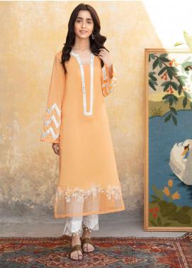 Kross Kulture Formal Cotton Stitched Kurtis KE 20080 Orange