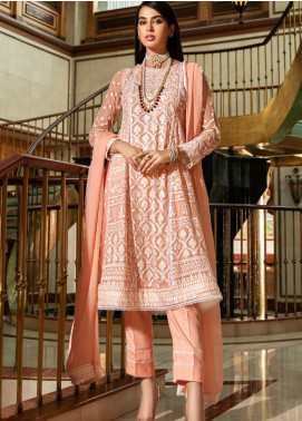 Kross Kulture Embroidered Chiffon Unstitched 3 Piece Suit KK20UN 2F CHIKANKARI - Luxury Collection