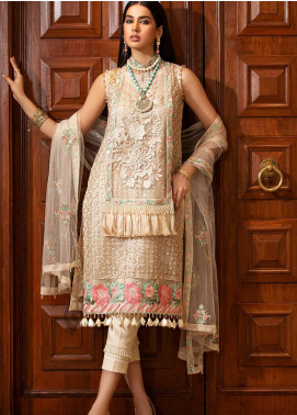Kross Kulture Embroidered Net Unstitched 3 Piece Suit KK20UN 3A BOURGE - Luxury Collection