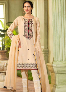 Kross Kulture Embroidered Cotton Silk Stitched 2 Piece Suit KB-20436 Skin