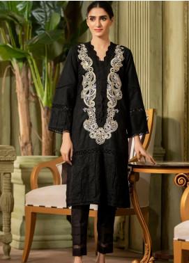 Kross Kulture Embroidered Jacquard Stitched Kurtis KE-20356 Black
