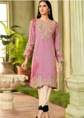 Kross Kulture Embroidered Jacquard Stitched Kurtis KE-20374 D-Pink