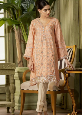 Kross Kulture Embroidered Viscose Stitched Kurtis KE-20581 Peach