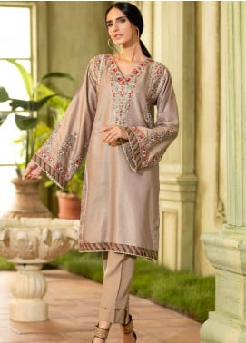 Kross Kulture Embroidered Jacquard Stitched Kurtis KX-20397 Grey
