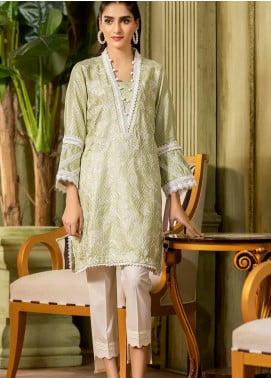 Kross Kulture Embroidered Viscose Stitched Kurtis KX-20472 Sea Green