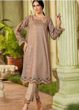Kross Kulture Embroidered Jacquard Stitched Kurtis KX-20595 D-Grey