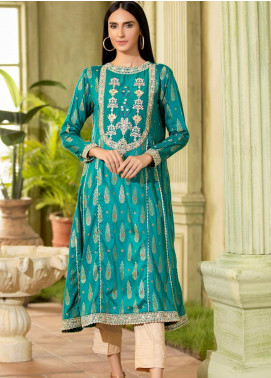 Kross Kulture Embroidered Jacquard Stitched Kurtis KX-20601 Green