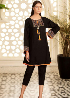 Kross Kulture Embroidered Khaddar Stitched Kurtis KB-20476 Black