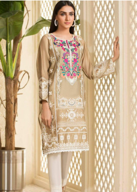 Kross Kulture Embroidered Cotton Net Stitched Kurtis KE-20494 Beige