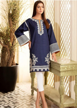 Kross Kulture Embroidered Khaddar Stitched Kurtis KE-20652 Navy