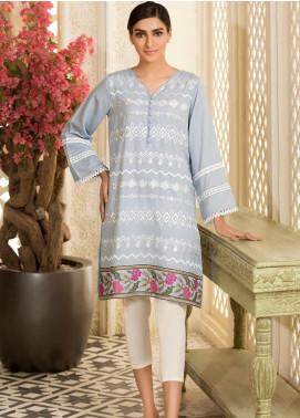 Kross Kulture Embroidered Karandi Stitched Kurtis KE-20655 Sk-Blue