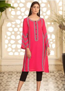 Kross Kulture Embroidered Karandi Stitched Kurtis KE-20664 Pink