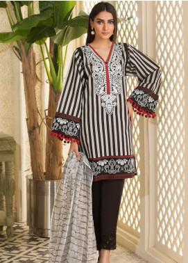 Kross Kulture Embroidered Woven Stitched 2 Piece Suit KE-20697 Black-Grey