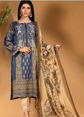 Kross Kulture Embroidered Cotton Stitched 2 Piece Suit KE-20686 Blue