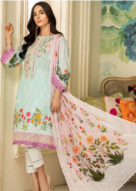 Kross Kulture Embroidered Lawn Unstitched 3 Piece Suit KK20ZS-2 BREEZE MZB-027 - Spring / Summer Collection