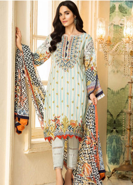Kross Kulture Embroidered Lawn Unstitched 3 Piece Suit KK20ZS-2 CHEVRON MZB-025 - Spring / Summer Collection