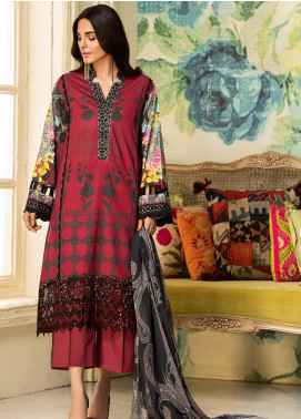 Kross Kulture Embroidered Lawn Unstitched 3 Piece Suit KK20ZS-2 GARNET MZB-023 - Spring / Summer Collection