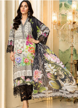 Kross Kulture Embroidered Lawn Unstitched 2 Piece Suit KK20ZS-2 MONO BLOOM MZB-024 - Spring / Summer Collection