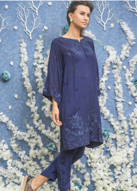 Kuli Jume Embroidered Cotton Net Stitched Kurti KJ-05-002 Farzam