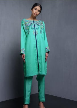 Kuli Jume Embroidered Cotton Stitched Kurtis Sea Quarry
