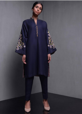 Kuli Jume Embroidered Irish Cotton Stitched Kurtis Dark Dusk
