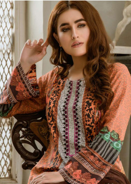 Kalyan By ZS Embroidered Lawn Unstitched 3 Piece Suit KYE18L 03 - Mid Summer Collection