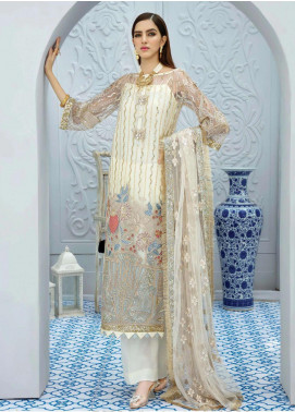 La Fantaisie by Serene Premium Embroidered Net Unstitched 3 Piece Suit LF20SP 1014 Summer Serenity - Luxury Collection