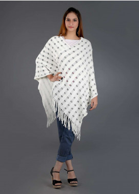 Sanaulla Exclusive Range Casual Acrylic Free Size Ponchos SAM18P 02 - Winter Collection