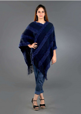 Sanaulla Exclusive Range Casual Acrylic Free Size Ponchos SAM18P 06 - Winter Collection