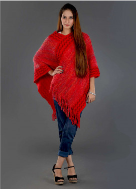 Sanaulla Exclusive Range Casual Acrylic Free Size Ponchos SAM18P 08 - Winter Collection