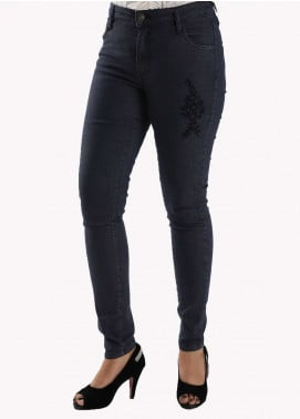 Bien Habille Ladies Jeans Skinny Fit Navy Blue