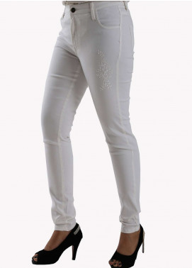 Bien Habille Ladies Jeans Skinny Fit White