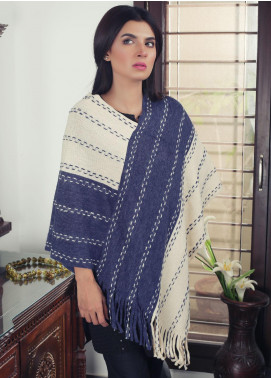 Sanaulla Exclusive Range Textured Acrylic Free Size Ponchos 19-16 Multi - Winter Collection