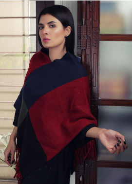 Sanaulla Exclusive Range Textured Acrylic Free Size Ponchos 19-22 Multi - Winter Collection