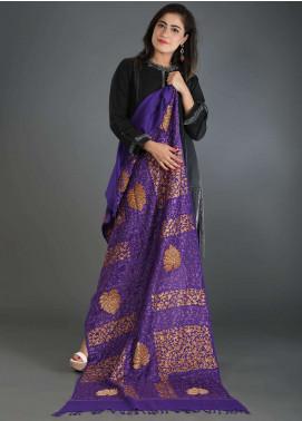 Sanaulla Exclusive Range Embroidered Pashmina Stole 04