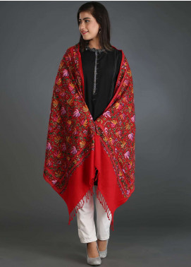 Sanaulla Exclusive Range Embroidered Pashmina Stole 15