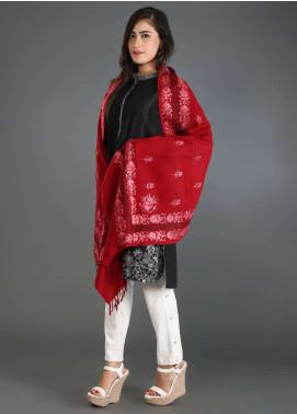 Sanaulla Exclusive Range Embroidered Pashmina Stole 23