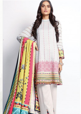 Lakhany Embroidered Cottel Unstitched 3 Piece Suit LSM20W WCC 2061 - Winter Collection