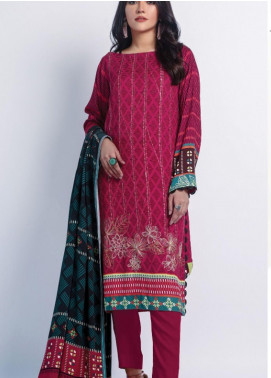 Lakhany Embroidered Cottel Unstitched 3 Piece Suit LSM20W WCC 2064 - Winter Collection