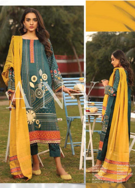 Lakhany Embroidered Lawn Unstitched 3 Piece Suit LSM20H 11 - Spring / Summer Collection